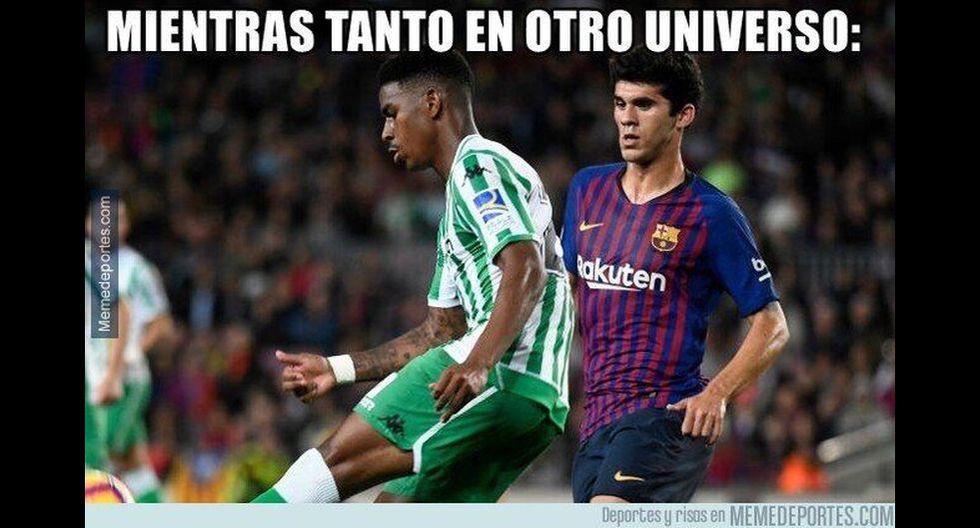 Los mejores memes de la victoria del Barcelona ante Real Betis. (Foto: Facebook)