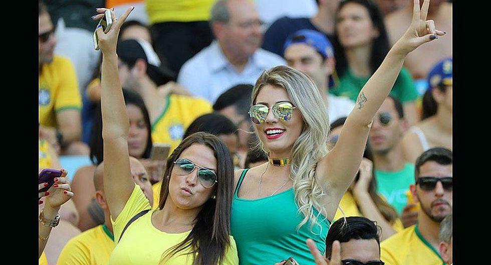Brasil vs. Honduras: las garotas que se robaron el show [FOTOS]