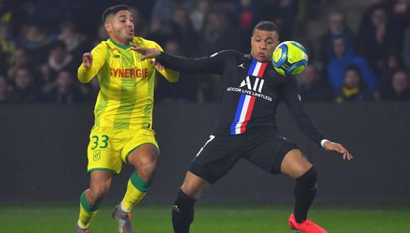 Percy Prado fue titular por primera vez en la Ligue 1 con camiseta de Nantes. (Foto: AFP)