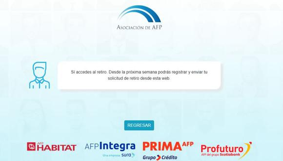 A muy poco de iniciar el registro de solicitudes para el retiro de hasta 4 UIT, equivalente a 17 200 soles, los peruanos tienen la oportunidad de consultar cuánto dinero tienen acumulado en sus fondos.  (Foto: Asociación de AFP)