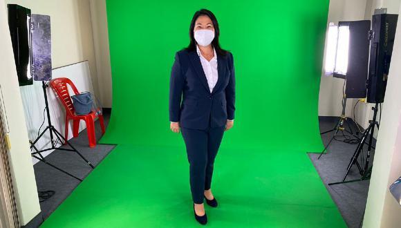 Keiko Fujimori y su peculiar mensaje. (Twitter)