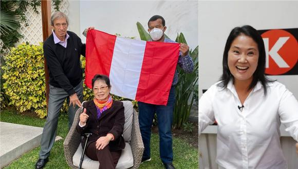 En las redes sociales circula una foto en la que Germán Leguía y Julio César Uribe posan junto a Susana Higuchi, madre de Keiko Fujimori.