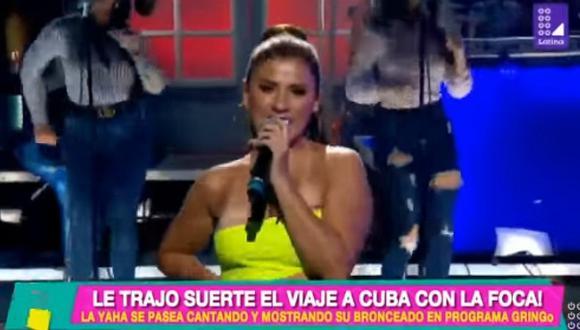 ¡Uy! Yahaira Plasencia, ex de Farfán sufre descuido con su vestido y deja ver de más durante concierto en USA | VIDEO