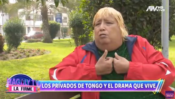 'Tongo' admite que hace 'privaditos' para  costear los tratamientos de su neuropatía diabética. (Foto: Captura de video)