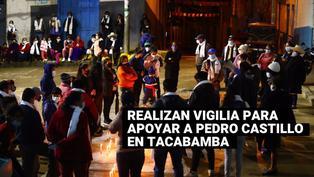 Tacabamba: Realizan vigilia para apoyar al candidato Pedro Castillo