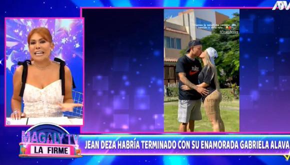 Magaly Medina aseguró que Jean Deza terminó con su pareja.