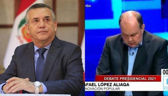 Daniel Urresti le mandó un mensaje a Rafael López Aliaga durante el Debate Presidencial.