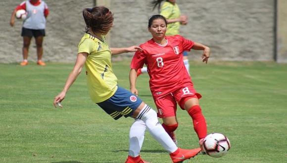 Selección peruana de fútbol femenino cayó 2-1 con Colombia en amistoso