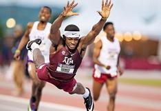 Atleta voló como 'Superman' y aseguró triunfo en prueba de 400 metros vallas | VIDEO
