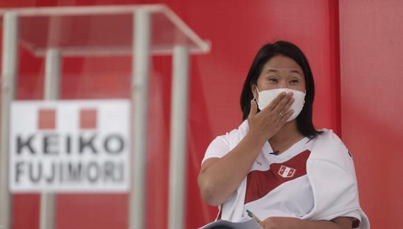 Luego de que el debate presidencial sea cancelado por la ausencia de Pedro Castillo, Keiko Fujimori se refirió al líder de Perú Libre. (Renzo Salazar/ GEC)