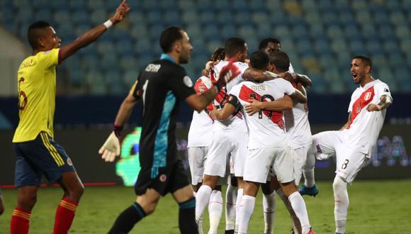 Goles peruanos fueron anotados por Sergio Peña y Yerry Mina de autogol. Foto: @SeleccionPeru
