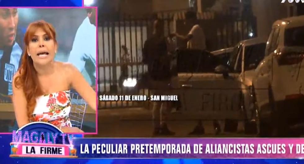 """Audio emitido por el programa """"Magaly TV, la firme"""" indicó que los futbolista tenían el """"día libre"""".  (Captura de pantalla)"""