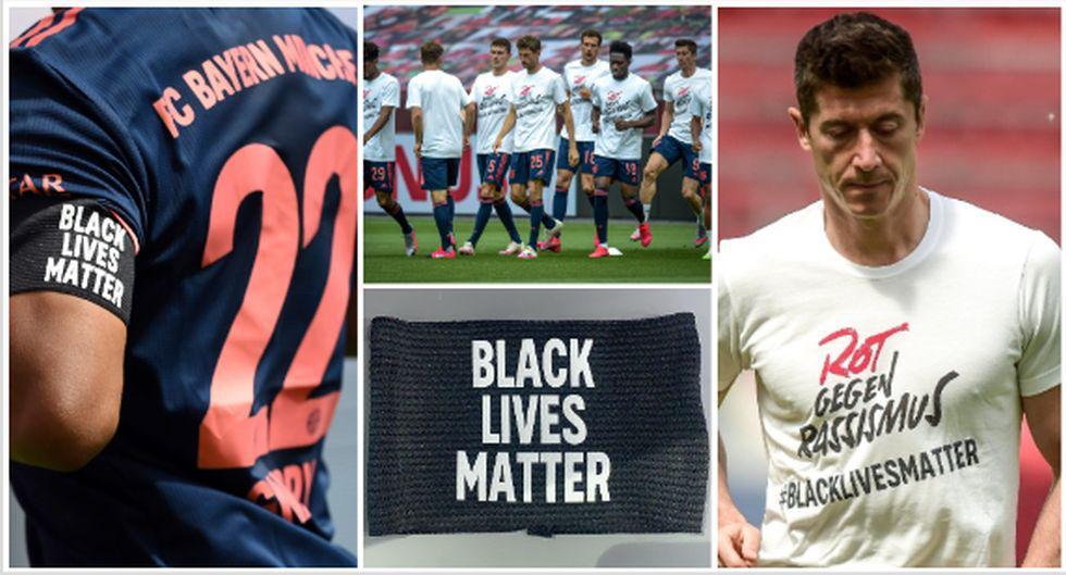 Bayern Múnich y las muestras de rechazo al racismo para el choque por Bundesliga. (Foto: AFP / Bayern München)