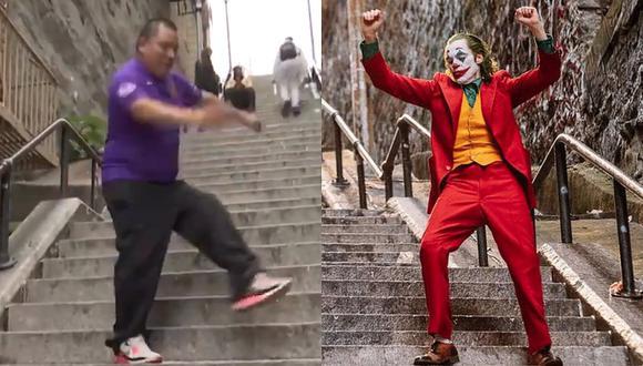 Alianza Lima | Hincha blanquiazul imita el divertido baile del Joker en las escaleras del Bronx [VIDEO]