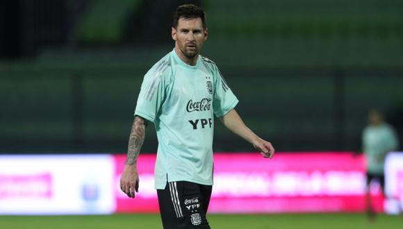 Lionel Messi comparte su felicidad en la selección de Argentina. (Foto: AFP)