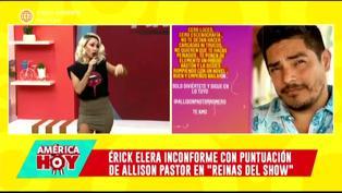 Belén Estévez responde con todo a Erick Elera por quejarse de 'Reinas del Show'