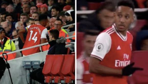 Aubameyang se fue al baño en pleno partido de Arsenal sin que nadie se diera cuenta   VIDEO