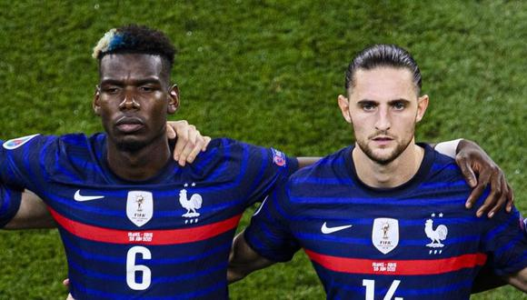 Adrien Rabiot y Paul Pogba discutieron durante el encuentro entre Francia y Suiza por los octavos de final de la Eurocopa. (Foto: Agencias)