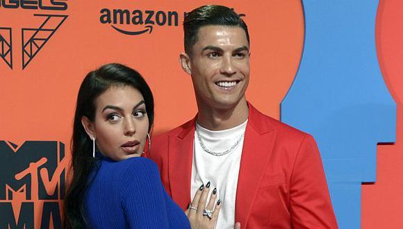 Cristiano Ronaldo y Georgina Rodríguez tienen una hija en común, Alana Martina. (Foto: AFP)