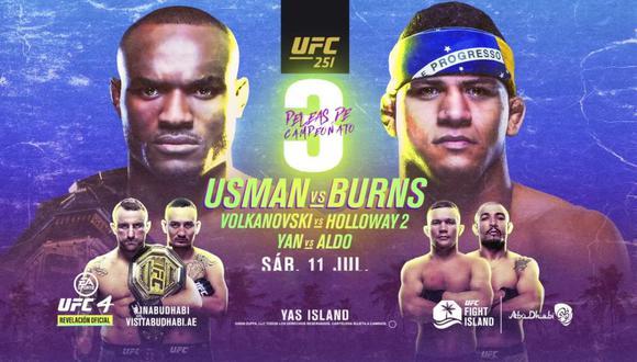 UFC 251 EN VIVO: Usman vs. Burns se ven las caras en el primer 'Fight Island' desde Abu Dhabi.