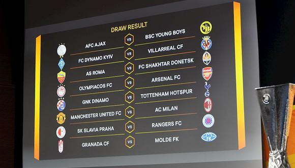 Así quedaron los emparejamientos de octavos de final de Europa League 2021. (Foto: EFE)