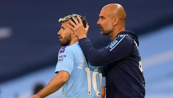 Pep Guardiola no asegura la presencia de Sergio Agüero en la final de la Champions League. (Foto: AP)