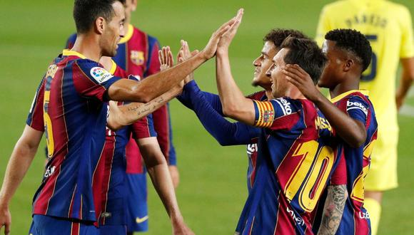 Barcelona inició LaLiga con cuatro goles al Villarreal.