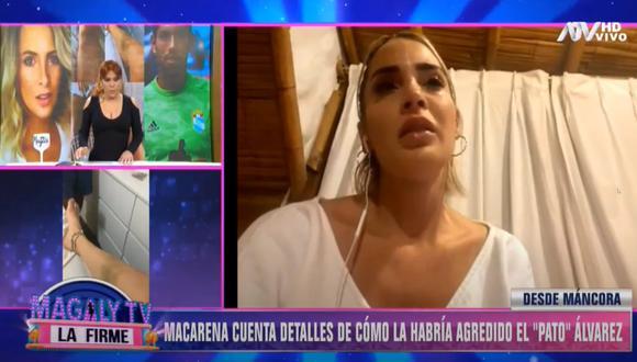 Macarena Gastaldo contó detalles de los maltratos que sufrió al lado del futbolista Patricio Álvarez. (Foto: Captura Magaly TV: La Firme)