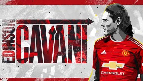 Edinson Cavani jugará en Manchester United. (Foto: ManUtd)