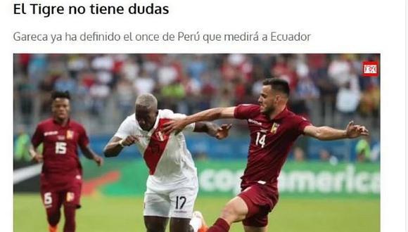 Perú - Ecuador ONLINE   Así informa la prensa ecuatoriana sobre el partido amistoso FIFA en Estados Unidos   FOTOS