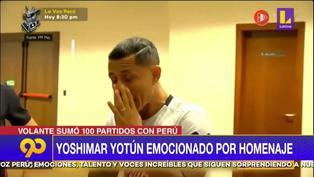 Yotún se emocionó con homenaje por sus 100 partidos (VIDEO)