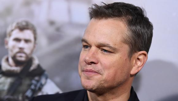 Matt Damon revela que su hija mayor estuvo contagiada de coronavirus (Foto: AFP )