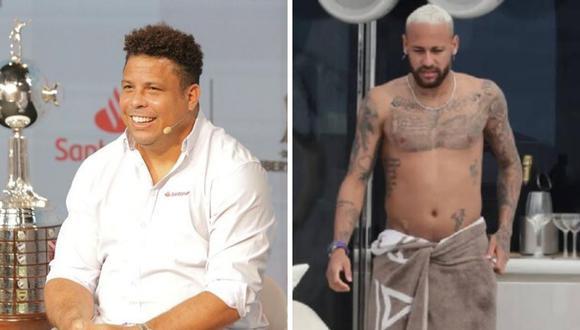 Compararon a Neymar y Ronaldo por su físico. (Foto: Instagram @ronaldo )