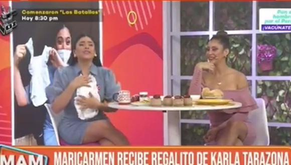 Maricarmen Marín recibió conjunto Gucci para su bebé. (Foto: Captura de video)