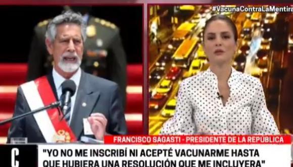 El presidente de la República, Francisco Sagasti habló con Cuarto Poder y se refirió al tema que ha remecido el escenario político con relación a la vacunación del expresidente Martín Vizcarra.