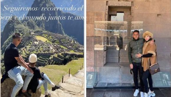 Christian Cueva y Pamela López más enamorados que nunca en las calles de Cusco. (Foto: Instagram @pamlopsol / @cueva10oficial).