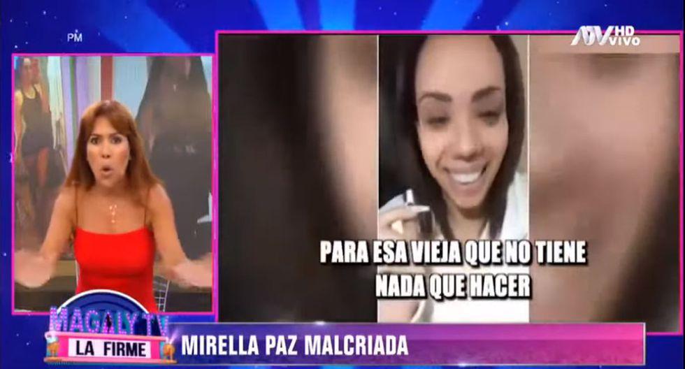 Magaly Medina arremete contra Mirella Paz por responder con insultos a críticas de sus seguidores. (Foto: Captura de video)