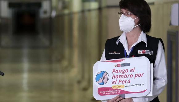"""""""El señor Martín Vizcarra Cornejo no se encuentra dentro de la lista de beneficiarios de la primera lista de vacunación"""", señaló Mazzetti. (Foto: Presidencia)"""