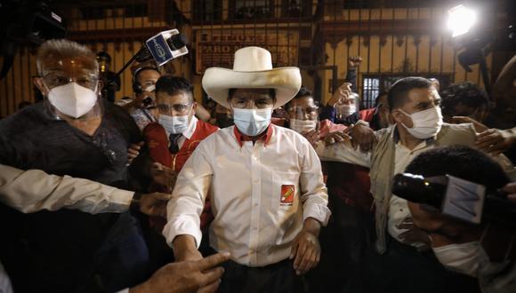 El líder del partido político Perú Libre, confirmó que no declaró ante el JNE que formó una empresa en el 2017 porque nunca estuvo activa. (Foto: Joel Alonzo/ @photo.gec)