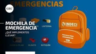 Sismo en Mala: aprende cómo preparar una mochila de emergencia