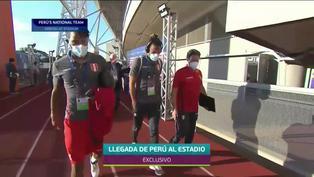Llegada de la selección peruana al Estadio Olímpico Pedro Ludovico en Goiânia