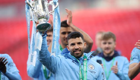 Sergio Agüero jugó diez temporadas en el Manchester City. (Foto: Reuters)