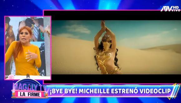 """Magaly Medina compara a Micheille Soifer con Yahaira Plasencia por cantar con playback en """"La Voz Perú"""". (Foto: Captura)"""