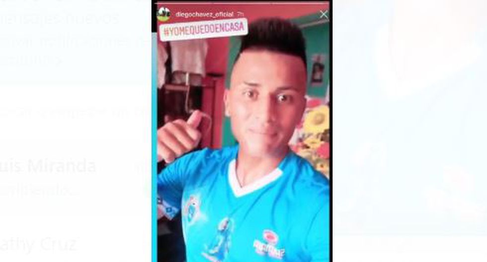 Diego Chávez entrenó con la camiseta de Deportivo Binacional. (Captura)