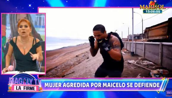 Magaly Medina critica la actitud de Jonathan Maicelo por agredir a mujer. (Foto: Captura de video)