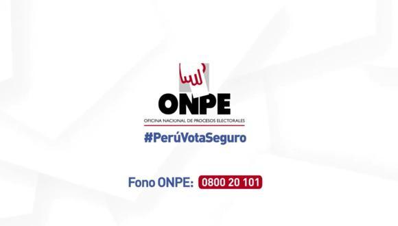 Para que sepas dónde votar en estas elecciones generales 2021, aquí te dejamos toda la información de la ONPE. FOTO: Oficina Nacional de Procesos Electorales (ONPE).