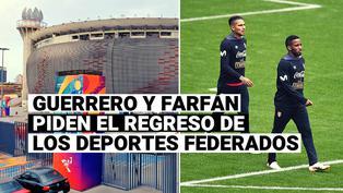 Jefferson Farfán y Paolo Guerrero se sumaron a la Safap para pedir el retorno de los deportes federados