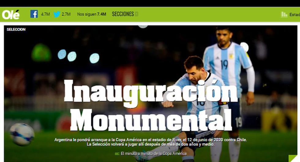 La reacción de los medios internacionales tras el sorteo de la Copa América 2020 en Colombia.