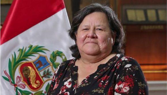 Ministra Ariela Luna del Midis dios los pormenores sobre el cobro de la bonificación a familia vulnerables ( Presidencia).