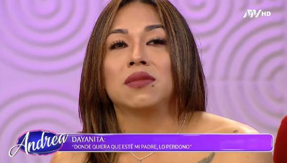 """'Dayanita' se sometió a prueba de ADN en el programa """"Andrea"""" de ATV. (Foto: Captura ATV)."""
